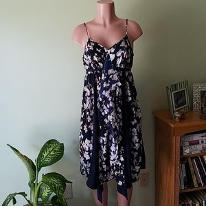 Simply Vera Wang blue and floral dress